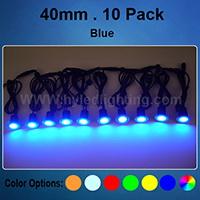 Set of 10 x 40mm Blue LED Stair Lights