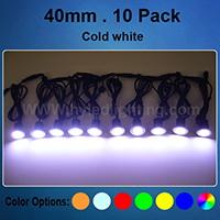 Set of 10 x 40mm Cold white LED Deck Lights